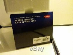 08482bl Kyosho 1/18 Superbe Alpine Renault A110 Bleue 1600sc1974 Neuf En Boite