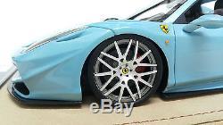 118 Veloce Ferrari 458 SVR Spider Water Blue Resin APM BBR