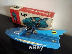 1967 Bateau moteur electrique Batman Batboat Geobra en boite DBGM make offer