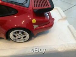 1/12 GT Spirit Porsche 911 964 Turbo 3.6 Red Rouge GT009CS Damaged 2 of 2
