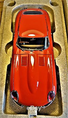 1/18 Autoart Jaguar E -type Series 1 Coupe In Red-stunning-new-rare