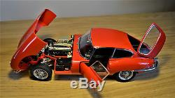 1/18 Autoart Jaguar E -type Series 1 Coupe In Red-stunning-new-rare-small Fault
