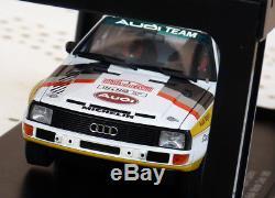 1/18 Autoart Audi Sport Quattro Group B Monte carlo 1985 Blomqvist NO NIGHT WRC
