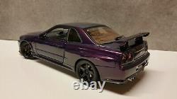 1/18 Autoart Custom Nissan Skyline R34 GTR V-Spec Midnight Purple