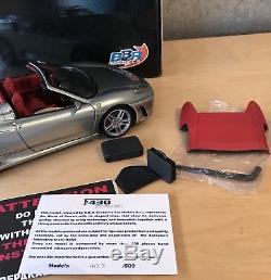 1/18 BBR Ferrari F430 Spider Silver Titanium
