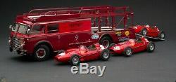 1/18 CMC M-084 Fiat 642 RN2 Ferrari Transporter + 3 EXOTO Ferrari Dino 246 Monza