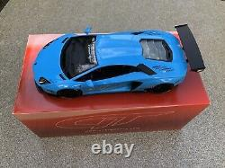 1/18 Lamborghini Aventador Lb Performance Lp400 Gt Spirit Baby Blue Liberty Walk