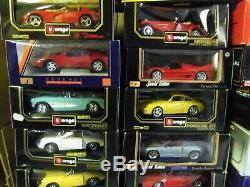 1/18 Lot 25 Voitures Burago Maisto Solido Revell Ferrari Porsche