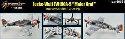 1/18 Merit Model Avion Fw190 A Major Graf Neuf Monte Et Peint Origine 60031