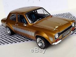 1 18 Mk1 Escort AVO RS2000 Silver On Gold! Triple 9 Rally MEXICO Tuning Modified
