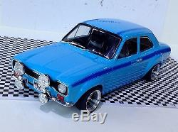 1 18 Mk1 Escort MEXICO Olympic Blue Avo RS2000 Triple 9 Rally Tuning Modified