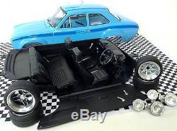 1 18 Mk1 Escort RS2000 VS MEXICO Olympic Blue Avo Triple 9 Rally Tuning Modified