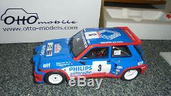 1/18 OTTO RENAULT 5 MAXI Turbo Gpe B PHILIPS Tour de Corse 1985 Ragnotti OT511