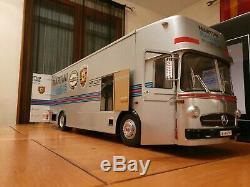 1/18 Schuco Mercedes MARTINI Porsche Transporter + 4 AUTOart 917 ELFORD SIGNED