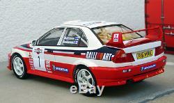 1/18 Tarmac Works Mitsubishi Lancer Evo V WRC rallye San remo winner 98 Makinen