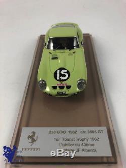 1/43° AMR par ALBERCA FERRARI 250 GTO 1er TOURIST TROPHY 1962 N°15 Ch 3505 GT