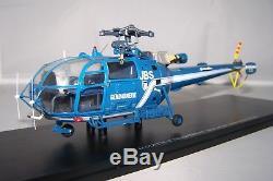 1/43 Gendarmerie (PERFEX714) Alouette III Hélicoptère Sud-Aviation 2ème version