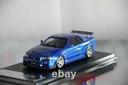 1/43 Hpi Nissan Skyline Gtr R34 S-tune Lightening Blue 8800