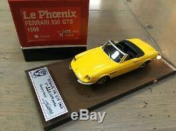 1/43 Le Phoenix Ferrari 330 GTS 1968 Yellow LePhoenix no bbr amr bosica