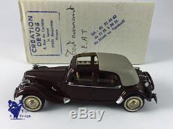 1/43 ROLAND DEVOS CITROEN TRACTION AEAT 1948/50 TOIT OUVRANT BORDEAUX