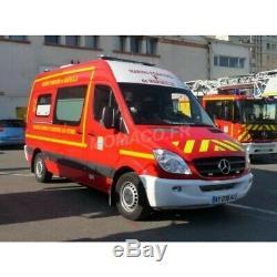 ALERTE 078A MERCEDES-BENZ SPRINTER VSAV BMPM pompiers PARE CHOC BLANC 1/43