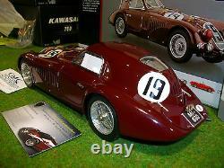 ALFA ROMEO 8C 2900B SPECIALE LE MANS #19 bordeaux 1938 1/18 CMC M111 voiture min