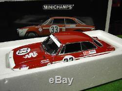 ALFA ROMEO GTA 1300 JUNIOR 1972 JARAMA 1/18 Minichamps 100721233 voiture miniatu