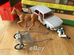 Ancien Norev Plastique Coffret Grand Prix D'amerique N°103 Ech 1/43 Eme