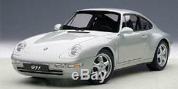 AUTOART 78131 Porsche 911 Carrera 1995 type 993 argent metal 1/18