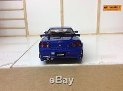 AUTOart 118 Scale Nissan Skyline R34 GT-R Z-Tune/ Blue/Boxed