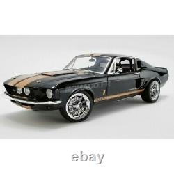 Acme Ford Mustang Shelby Gt500 Street Fighter Noire Bandes Oranges 1/18
