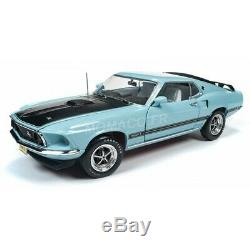 American Muscle Amm1181 Ford Mustang Mach 1 1969 Bleue Aqua 1/18