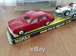 Ancien Norev Plastique Rare Coffret Montlhery N°104 Ech 1/43 Eme