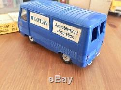 Ancien Norev Plastique Rare Peugeot J7 Levitan N°7 Ech 1/43 Eme
