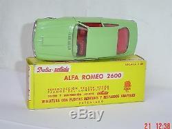 Ancien SOLIDO DALIA 60s spain 23 ALFA ROMEO 2600 série 100 NEUF boîte +pub dinky