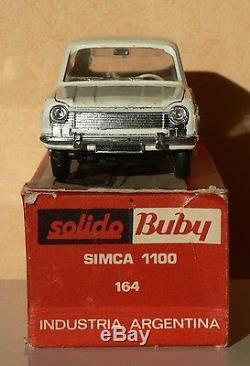 Ancien jouet SOLIDO BUBY SIMCA 1100 RARISSIME avec BOITE ORIGINALE