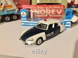 Ancienne Norev Plastique Citroen Ds Police N°158 Ech 1/43 Eme