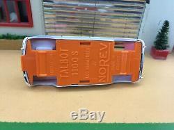 Ancienne Norev Plastique Ultra Rare Talbot 1100 S Test Couleur
