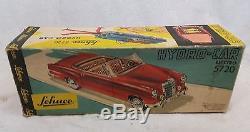 Ancienne voiture tôle Schuco HydroCar 5720 Mercedes 220 S + boîte 1960