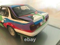 Art Car Cesar Manrique BMW 730i 1990 1/18 MINICHAMPS