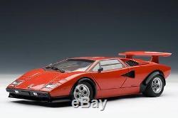 Autoart 74651 Lamborghini Countach Lp500s Walter Wolf Edition 1975 Rouge 1/18