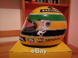 Ayrton senna 1993 paris bercy kart master F1 1/2 helmet shoei x4 rare