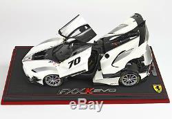BBR BBR182280AST Ferrari FXXK-EVO DIE CAST Bianco Italia Metal 1/18