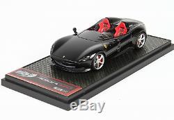 BBR BBR221A Ferrari Monza SP2 Nero New Black Daytona Metallizzato 1/43