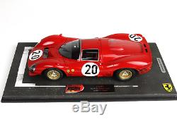 BBR BBRC1835B Ferrari 330 P3 24H Le Mans 1966 N°20 Scarfiotti Parkes 1/18