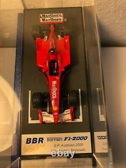 BBR Ferrari F1-2000 gp australia winner schumacher rouge 1/43