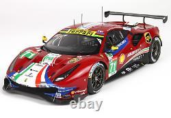 BBR P18153B Ferrari 488 GTE Team AF Corse N°71 24H Le Mans 2018 1/18