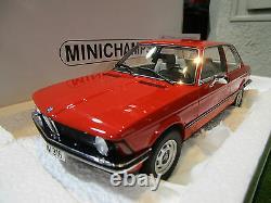 BMW 316 E21 d 1978 rouge 1/18 MINICHAMPS 107024100 voiture miniature collection