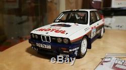 BMW M3 e30 Rothmans Gr. A Rallye Tour de Corse Beguin Otto 1/18 avec boite