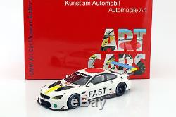 BMW M6 GTLM #19 Art Car John Baldessari avec vitrine 118 Kyosho